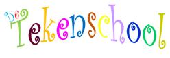 Kleurrijke logo van De Tekenschool