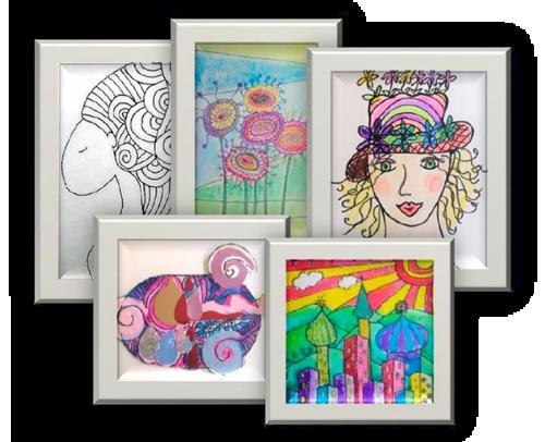 online Hundertwasser tekenles pakket voor beginners en gevorderden